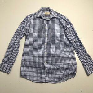 Michael Kors Dress Shirt Slim Fit Blue Striped